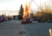 Osterfeuer in Kahlwinkel